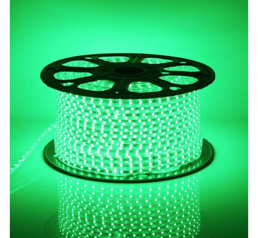 LED lichtslang plat - Groen licht - 50 meter - Incl. aansluitsnoer