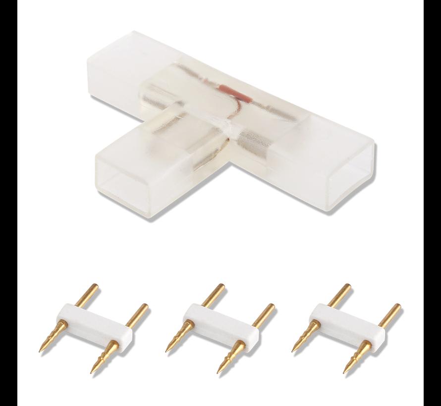 LED lichtslang twee pins T-connector