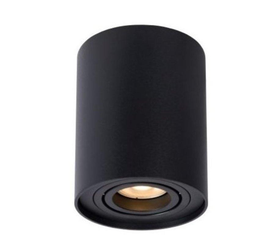 LED Plafondspot - Zwart - Tube Rond - GU10 fitting - Kantelbaar - Excl. LED spot