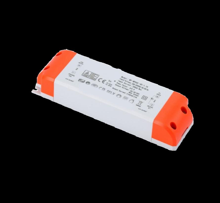 Dimbare LED driver - Triac / fase aansnijding - 60W 30-42V 1500mAh