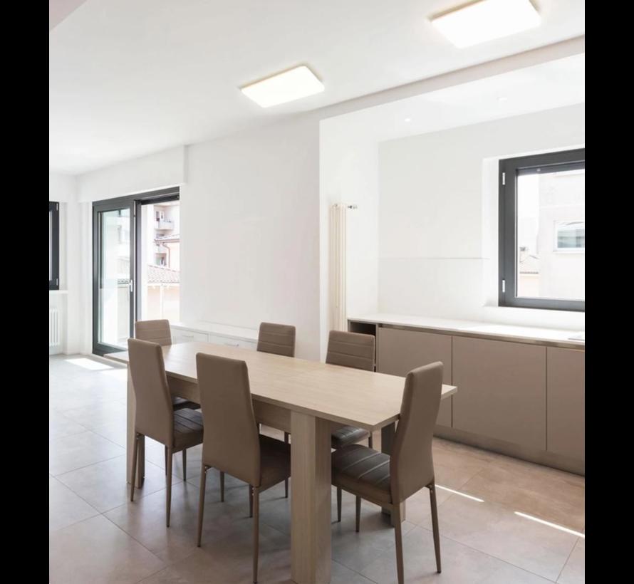 LED plafonnière 36W - 43x43x6cm - Lichtkleur optioneel - 230V aansluiting