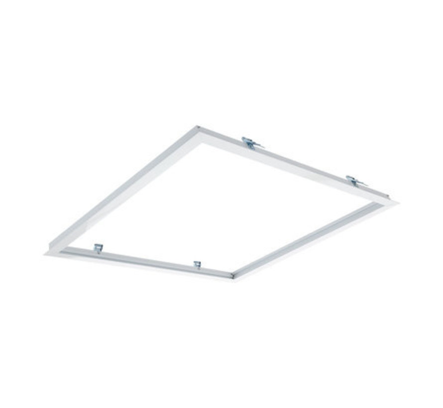 Inbouw Wit Aluminium - Zaagmaat 613x613mm - Afdekmaat 635x63mm - Voor LED Paneel 60x60cm
