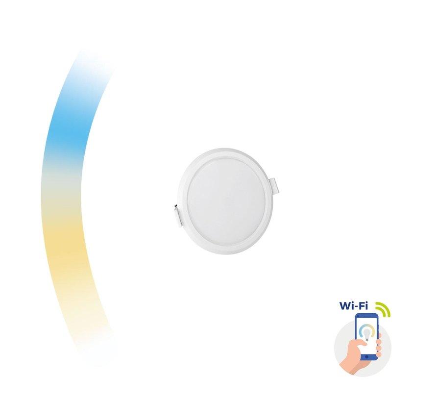 WiFi LED - dimbare inbouwspot 6W - CCT 3000K-6500K - Bediening met de App
