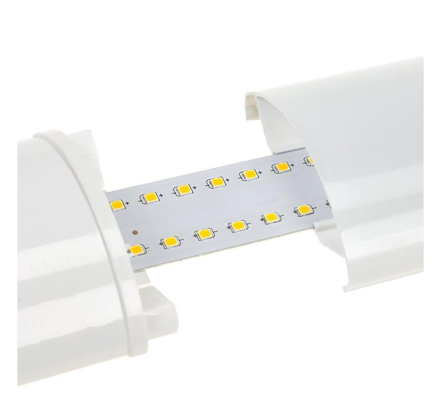 LED Batten - 120cm 32W LED armatuur - 3000K 830 warm wit licht - compleet incl. bevestigingsmateriaal