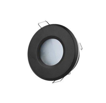 LED Inbouwspot rond - IP44 - Zwart - Zaagmaat 73mm - Buitenmaat 83mm