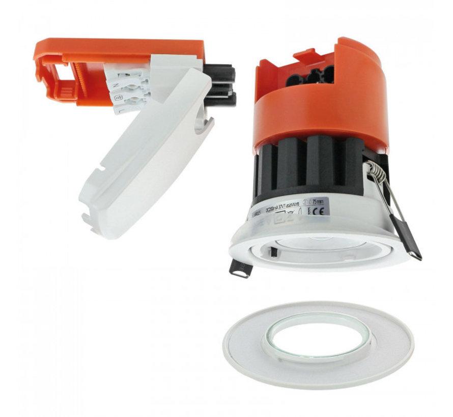 LED inbouwspot dimbaar 8W - IP65 Brandwerend - CCT 3000K, 4000K en 6000K - 5 jaar garantie