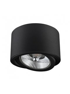 LED Plafondspot - Mat Zwart - Rond - AR111 / GU10 aansluiting - Kantelbaar - Excl. AR111 spot