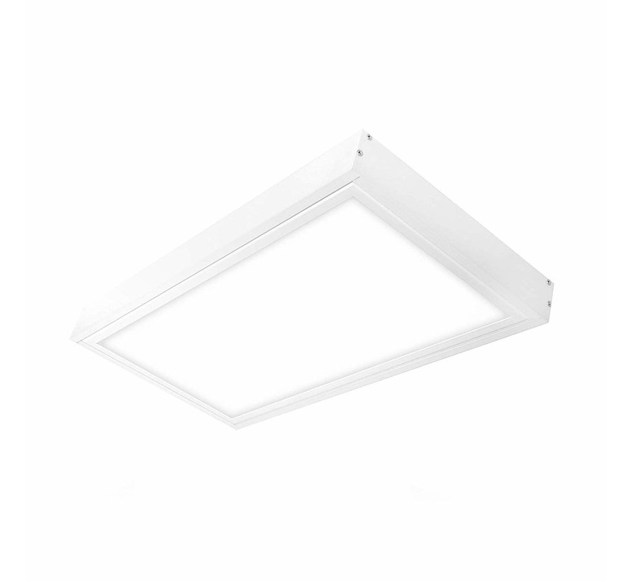 LED paneel opbouw aluminium - wit - 60x30 frame systeem - 5cm hoog incl. schroeven