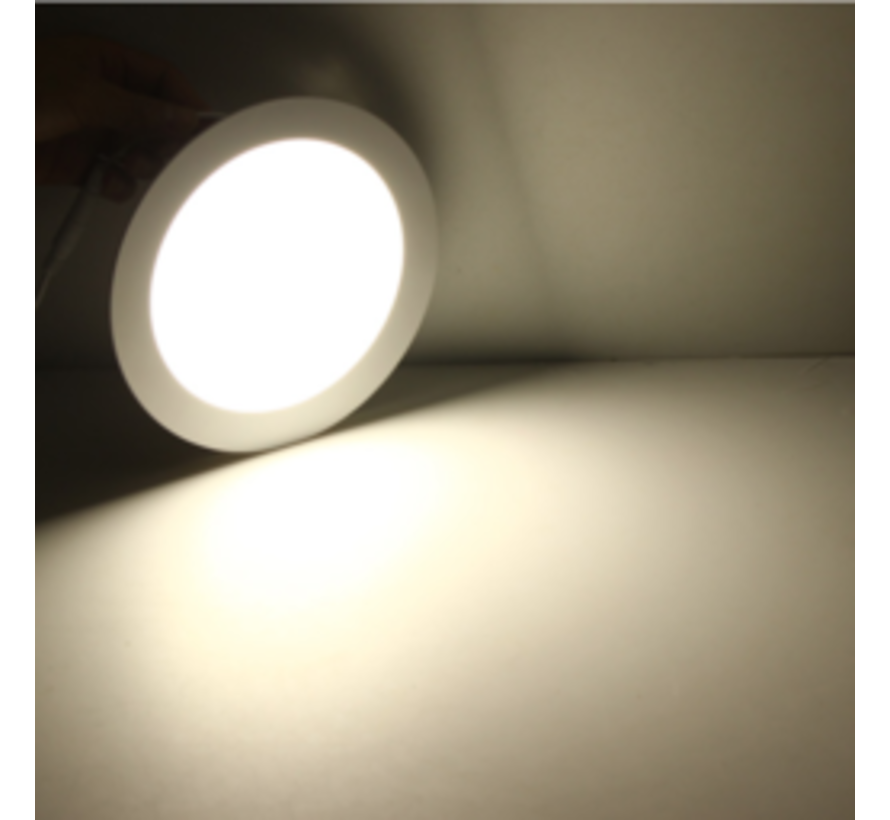 LED Inbouwspot Vierkant - Lichtkleur optioneel - 6W vervangt 40W - Inbouwmaat 100x100mm