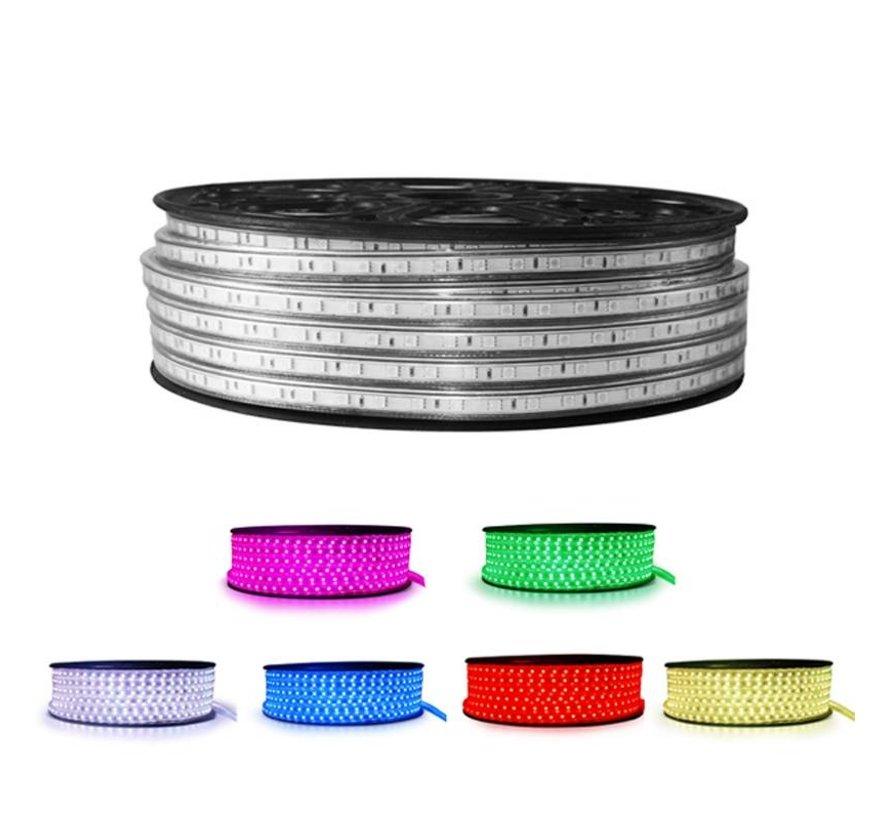 LED Lichtslang plat - RGB - Lengte optioneel - Bediening optioneel - werkt direct op 230V