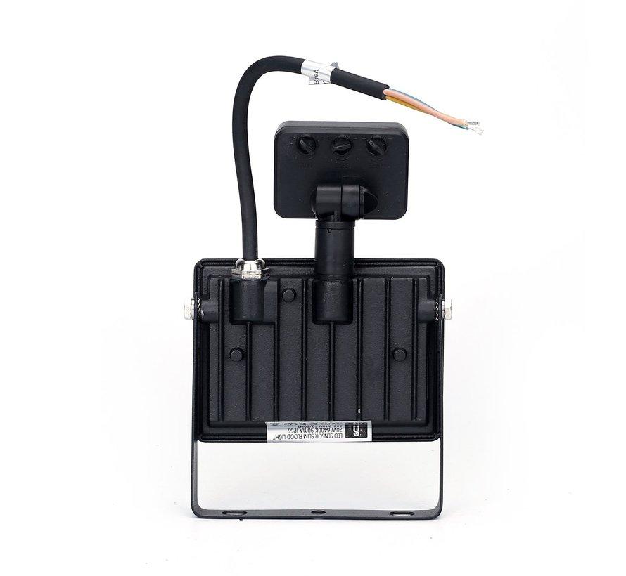 LED Floodlight met bewegingssensor - 20W vervangt 180W - Lichtkleur optioneel - 3 jaar garantie