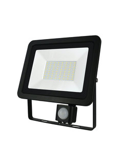 LED Floodlight met sensor - 50W IP44 - Lichtkleur optioneel - 3 jaar garantie