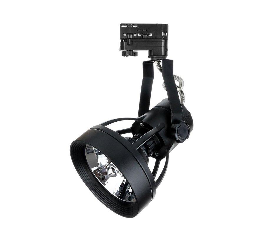 LED Railspot Zwart - Universeel 3-Phase - Verwisselbare PAR20 / ES111 LED lamp
