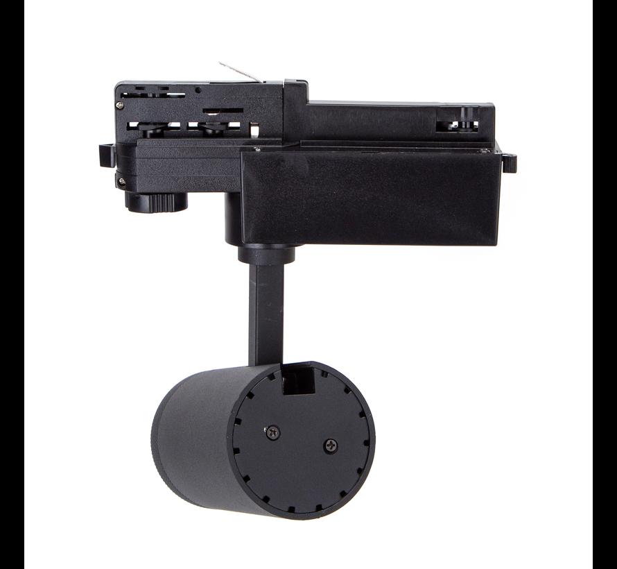 LED Railspot Mat Zwart - 4000K helder wit licht - Universeel 3-Phase - 30W High Lumen