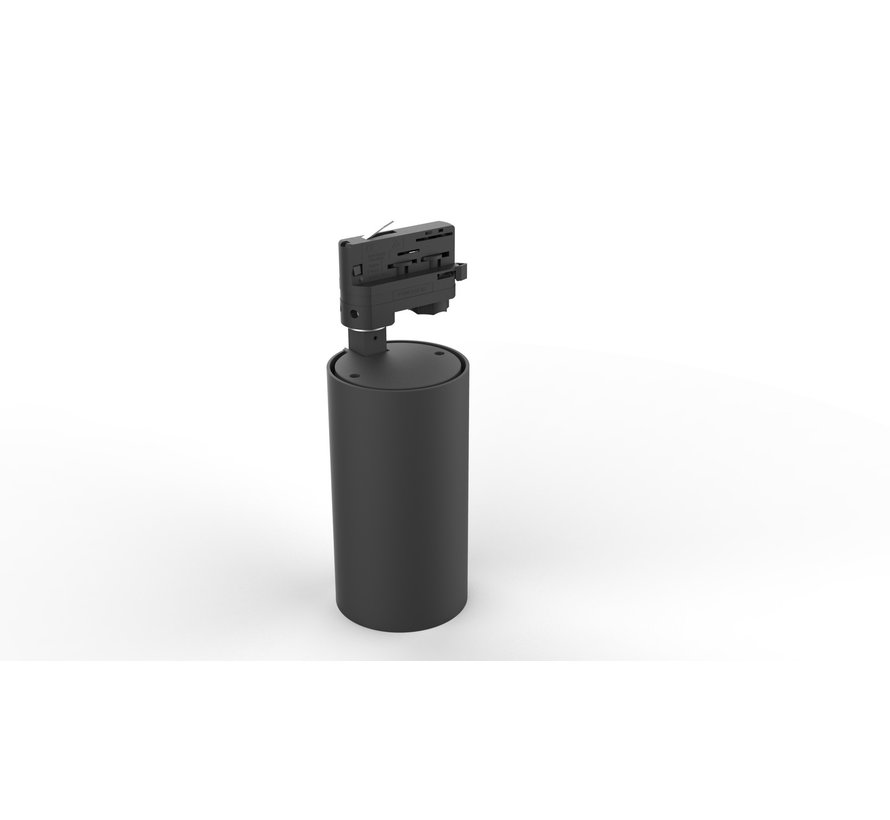 LED Railspot Zwart - 3000K warm wit licht - Universeel 3-Phase - 15W - 100lm p/w