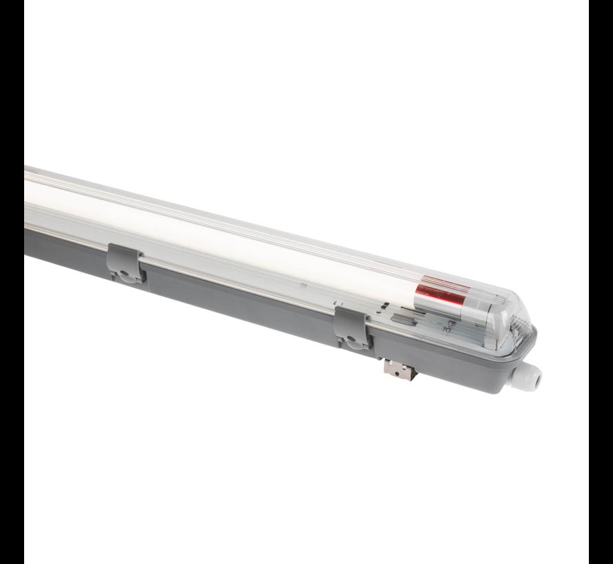 LED TL buis armatuur - 60cm - Waterdicht IP65 - voor dubbele LED TL buis - Doorkoppelbaar