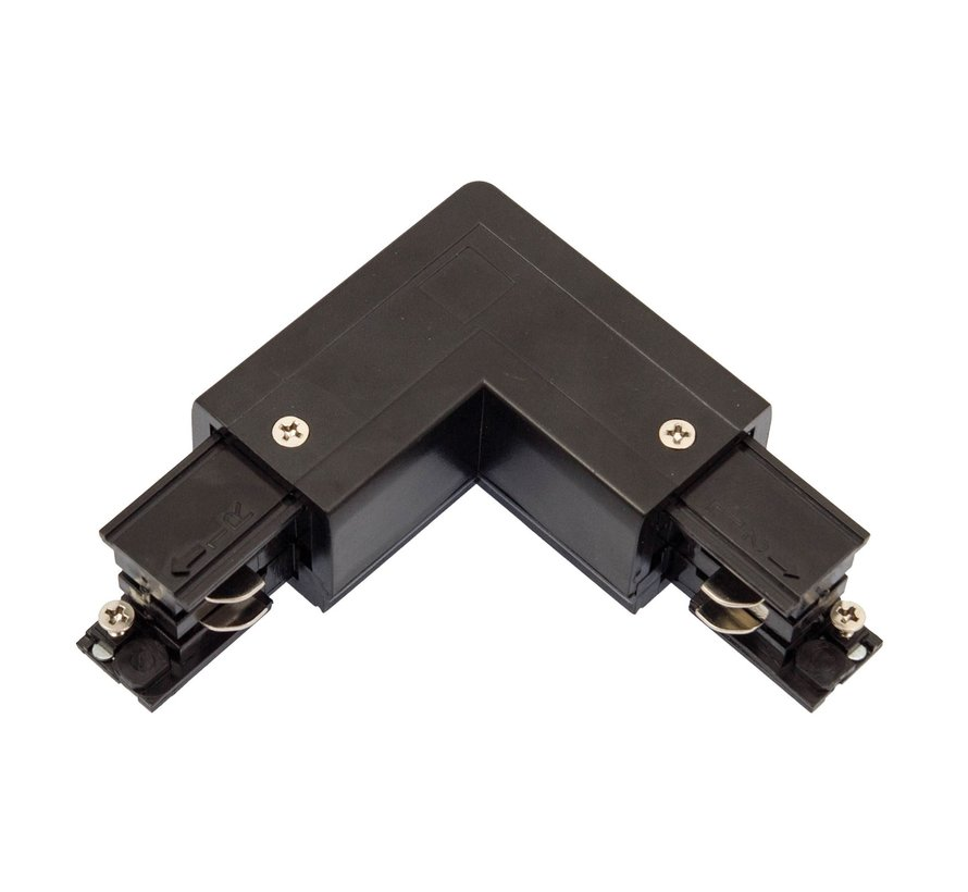 LED Spot Rail hoekverbinding zwart - Universeel 3-Phase
