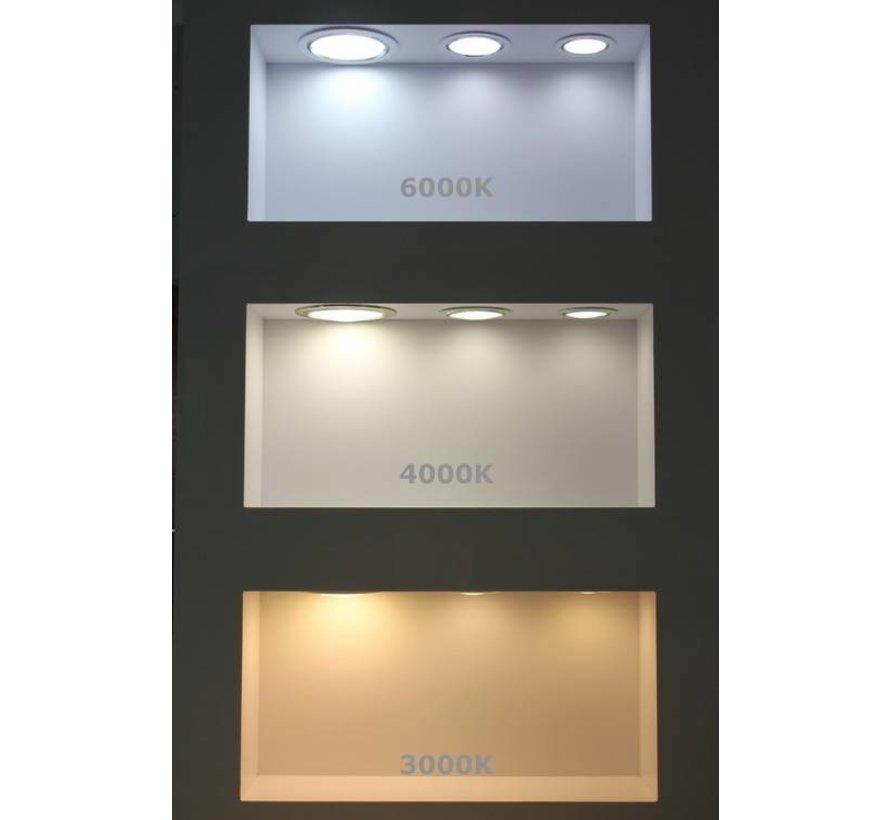 LED inbouwspot rond - 12W vervangt 100W - inbouwmaat 150x32mm - 3000K warm wit licht