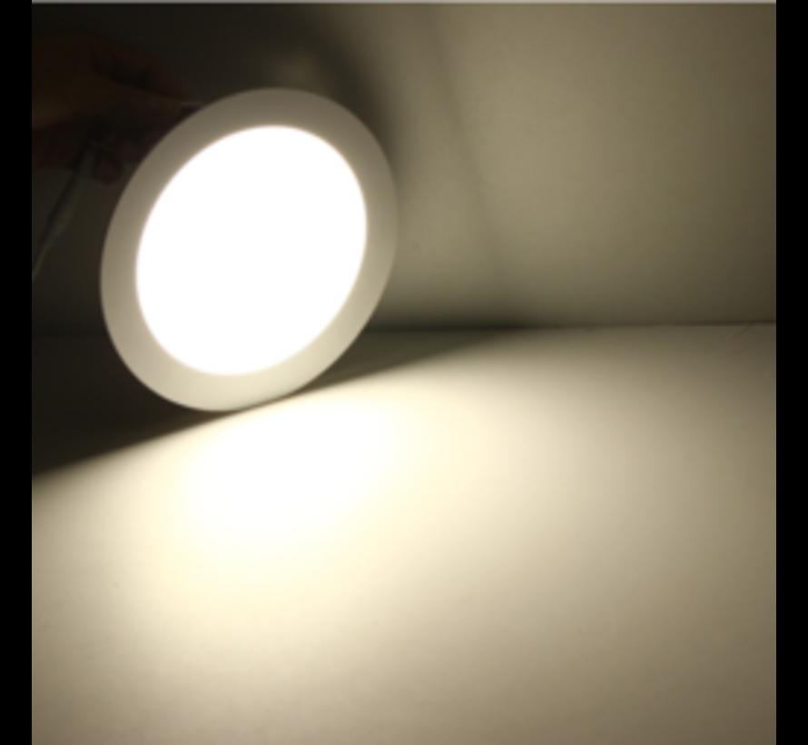 LED inbouwspot rond - 12W vervangt 100W - inbouwmaat 150x32mm - 4000K helder wit licht