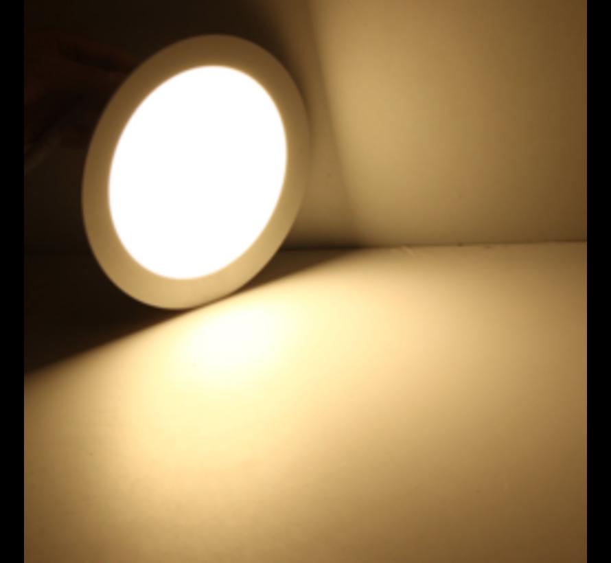 LED inbouwspot rond - 20W vervangt 160W - inbouwmaat 220x32mm - 3000K warm wit licht