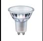 LED spot GU10 - 3W vervangt 30W - 2700K warm wit licht - Glazen behuizing