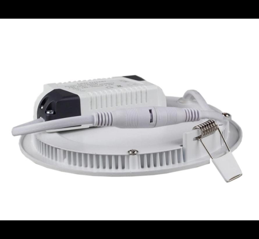 LED inbouwspot rond aluminium - 3W vervangt 25W - zaagmaat 74mm - 3000K warm wit licht