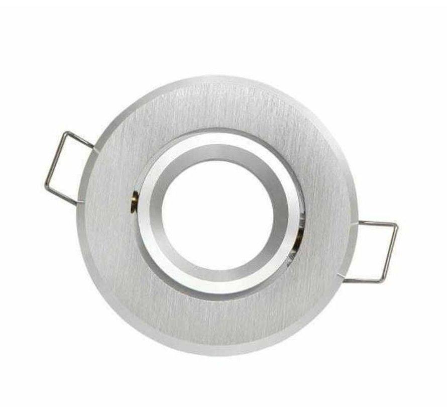 GU11 / MR11 - 35mm Inbouwspot aluminium rond - Kantelbaar IP20 - zaagmaat 60mm - buitenmaat 70mm