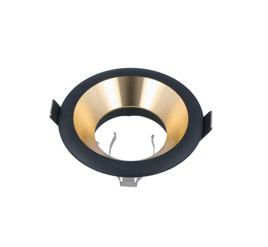 LED inbouwspot rond - Goud / Zwart - zaagmaat 75mm - buitenmaat 94mm