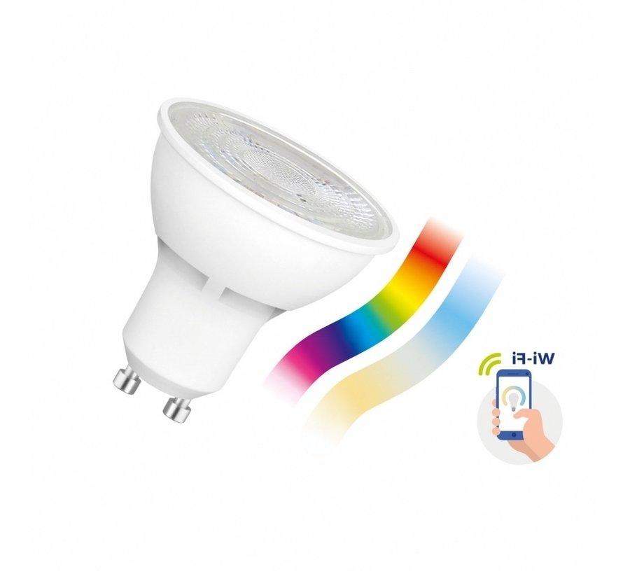 WiFi LED Spot - GU10 5W - RGB+CCT alle lichtkleuren - Bediening met de App