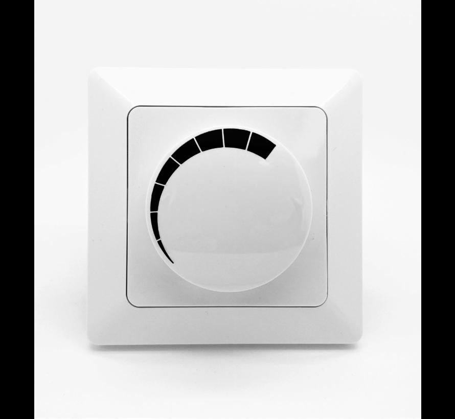 LED dimmer inbouw 3-60W - Geschikt voor alle dimbare LED-lampen - Incl. afdekraam