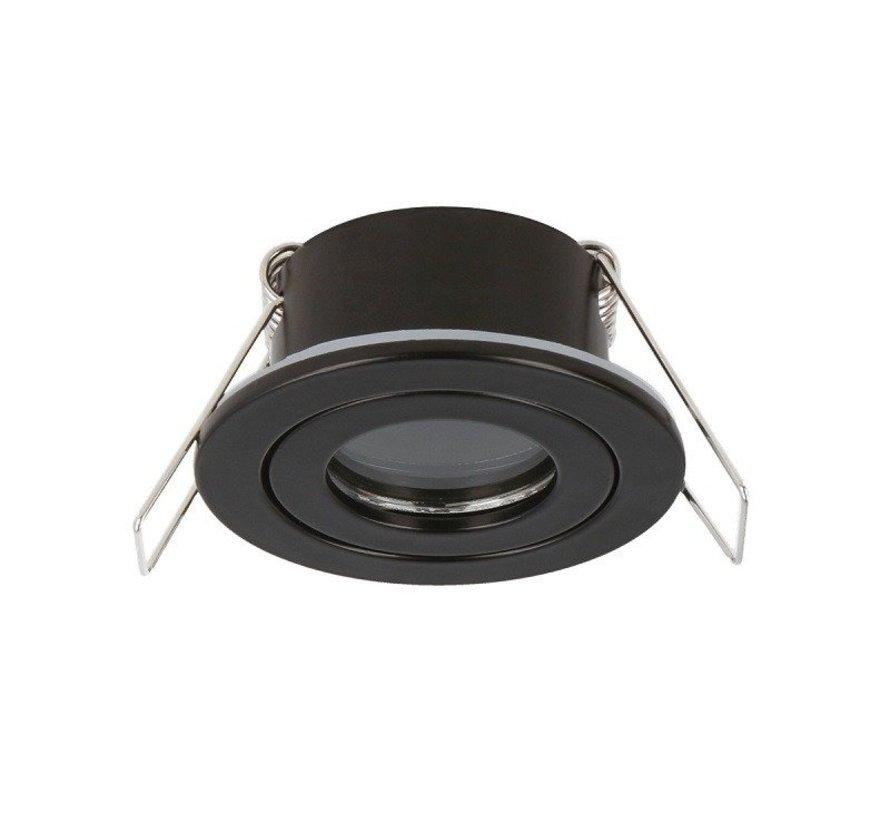 LED GU11 / MR11 inbouwspot √ò35mm - Zwart rond - Waterdicht IP44 - zaagmaat 40mm - buitenmaat 55mm