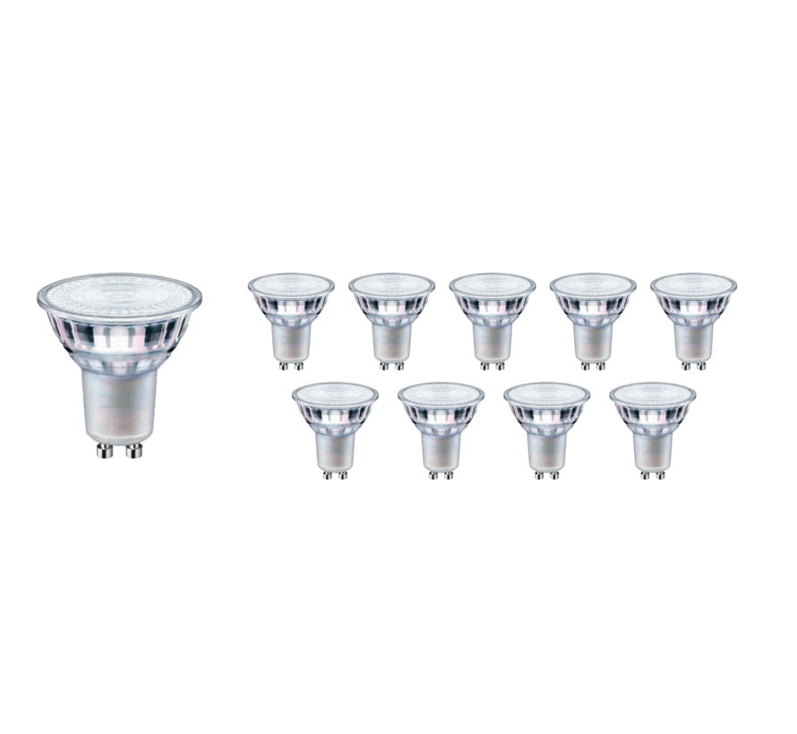 Voordeelpak 10 stuks - GU10 LED spots - 5W vervangt 40W - Lichtkleur optioneel