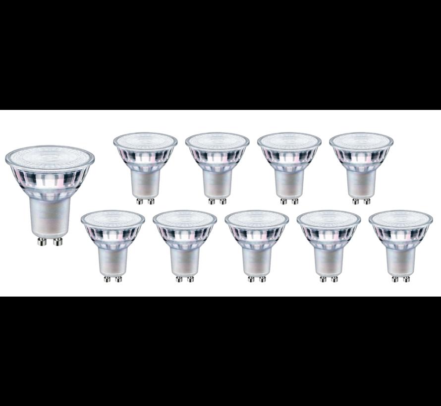 Voordeelpak 10 stuks - GU10 LED spot - 1W vervangt 10W - 2700K warm wit licht - 38° lichtspreiding