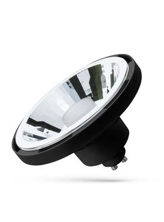 WiFi LED Spot zwart - AR111 GU10 10W - RGB+CCT alle lichtkleuren - Bediening met de App