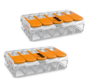 2 stuks WAGO lasklem  0.14-4 mm 5 polig