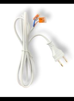 150cm aansluitstekker 2-polig incl. 2 WAGO kabelverbinders - 230V netsnoer met open einde -  0.75mm²