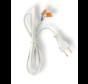 500cm aansluitstekker 2-polig incl. 2 WAGO kabelverbinders - 230V netsnoer met open einde - 0.75mm²