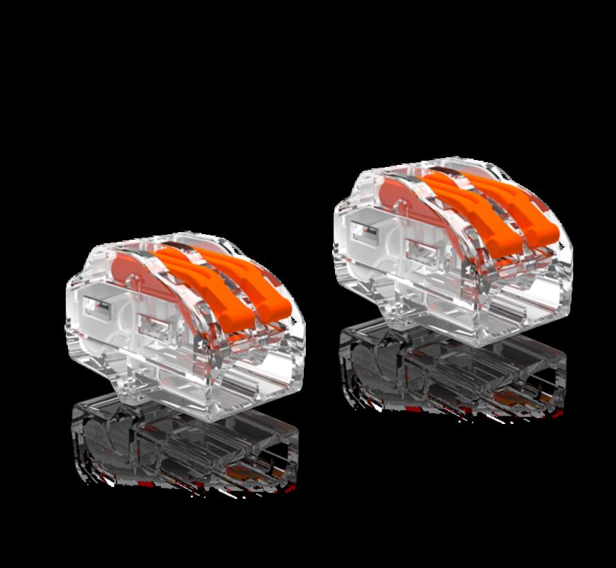 2 stuks Conex Lasklemmen kabelverbinders - 2 polig 0,5 tot 4mm²