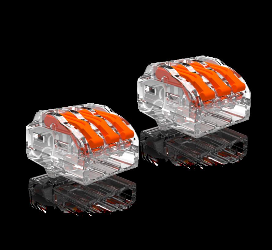 2 stuks Conex Lasklemmen kabelverbinders - 3 polig 0,5 tot 4mm²