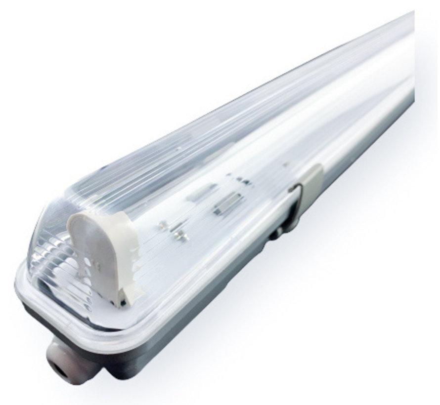 1.2m 18W LED TL Waterdichte armatuur IP65 + 1 LED TL buis 3000K 830 Warm Wit compleet