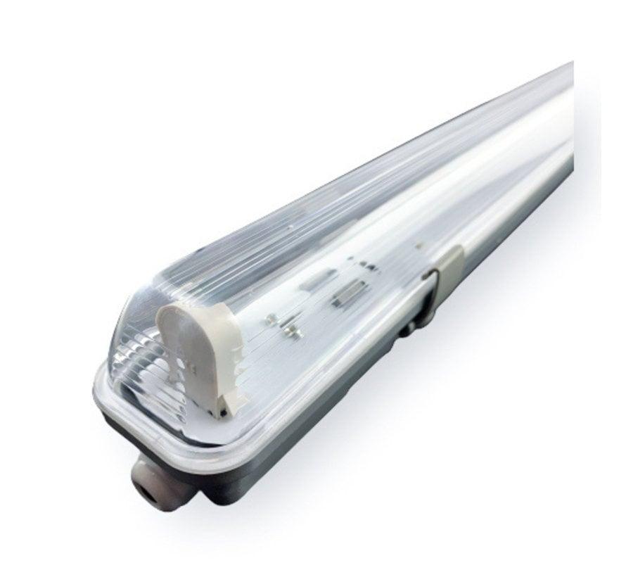 1.5m 24W LED TL Waterdichte armatuur IP65 + 1 LED TL buis 3000K 830 Warm Wit compleet