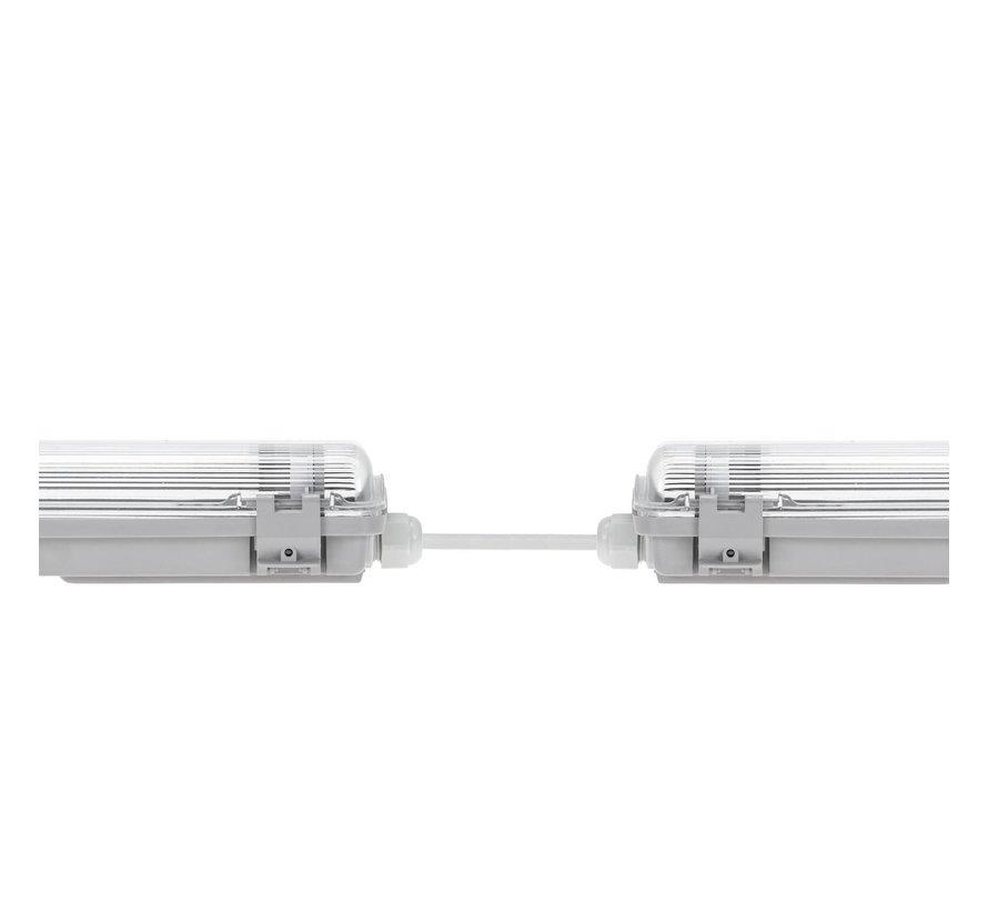 120cm LED armatuur IP65 + 2 LED TL buizen 18W p/s - 6000K 865 daglicht wit -  Compleet