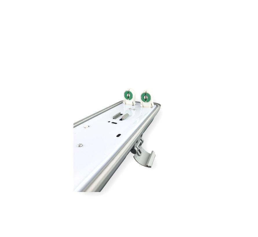1.5m 48W LED TL Waterdichte armatuur IP65 + 2 LED TL buizen 6000K 865 daglicht wit compleet