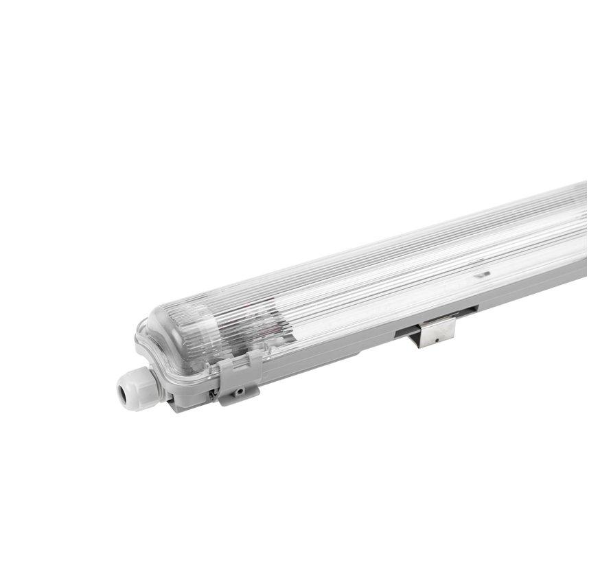 60cm LED armatuur IP65 + 1 LED TL buis 18W - 3000K 830 warm wit licht -  Compleet