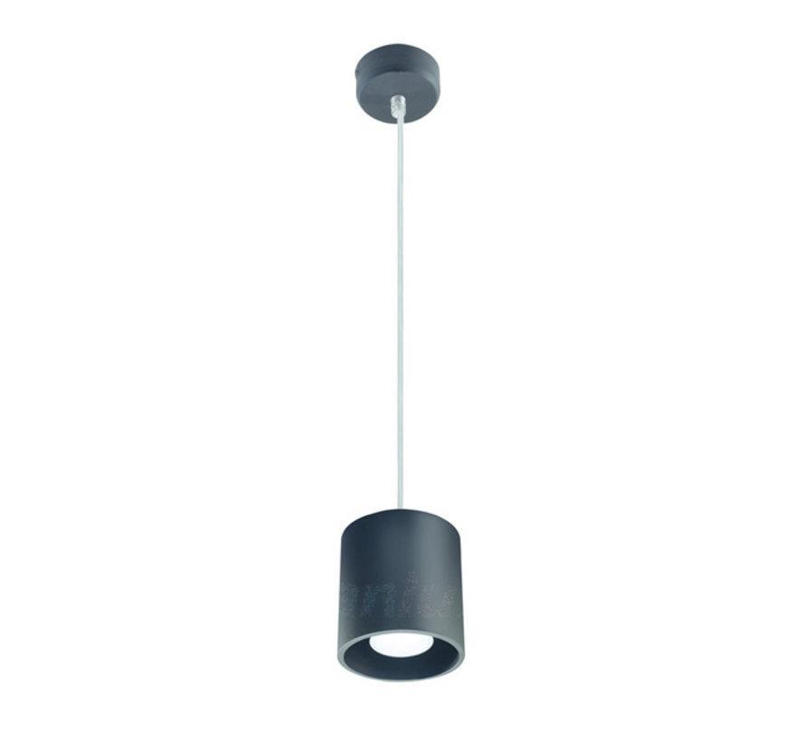 LED GU10 plafondspot verlaagd zwart rond - 65cm kabellengte - Max. 40W