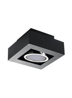 Kanlux LED AR111 GU10 plafondspot armatuur zwart - Enkelvoudig voor 1 LED GU10 spot