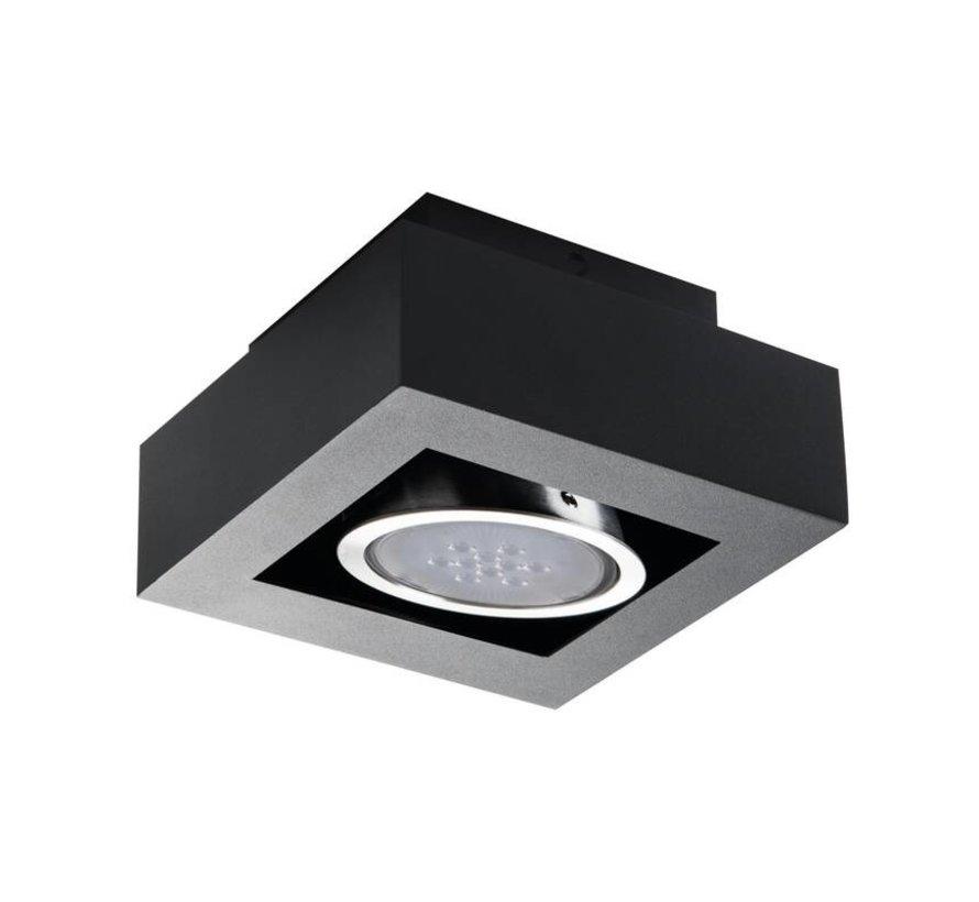 LED AR111 GU10 plafondspot armatuur zwart - Enkelvoudig voor 1 LED GU10 spot