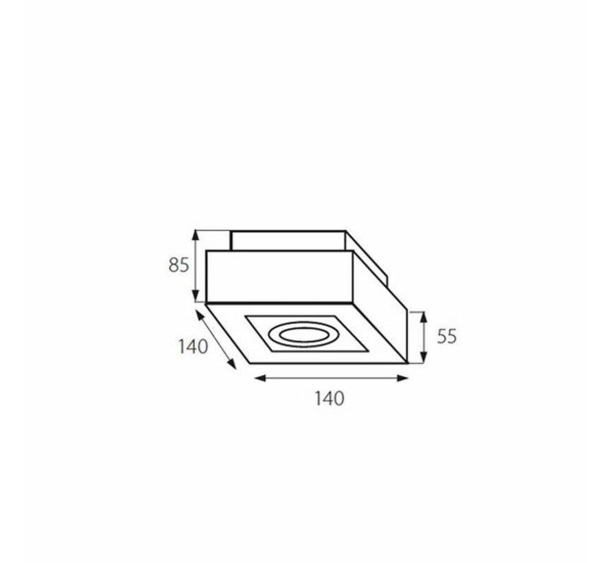 LED GU10 plafondspot armatuur zwart - Enkelvoudig voor 1 LED GU10 spot