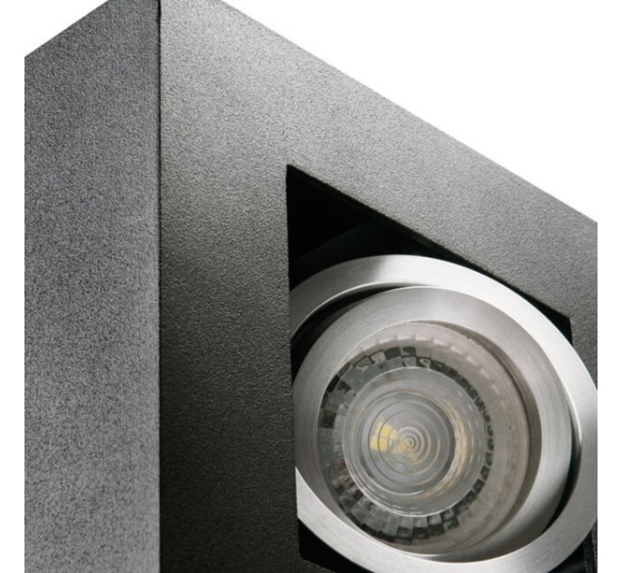 LED GU10 plafondspot armatuur zwart - Viervoudig voor 4 LED GU10 spots