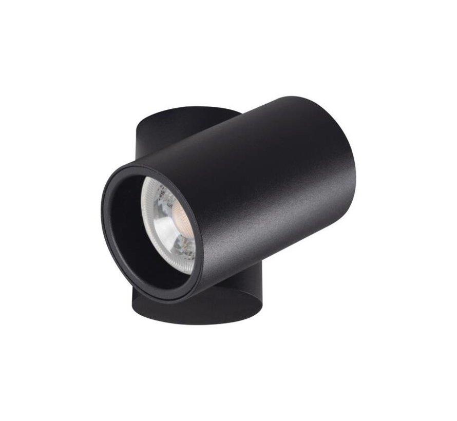 LED GU10 plafondspot verstelbaar zwart - Enkelvoudig voor 1 LED GU10 spot